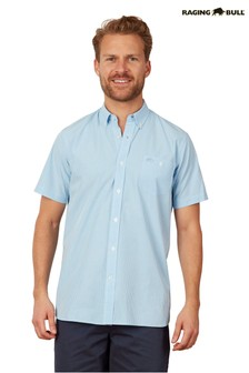 Raging Bull Blue Short Sleeve Gingham Shirt