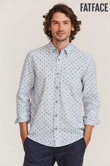 FatFace Blue Acorn Print Shirt