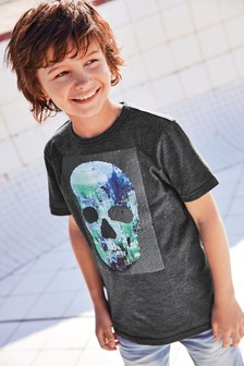 Sequin Change Skull T-Shirt (3-16yrs)