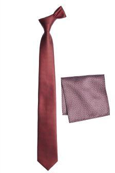 Галстук и платок для нагрудного кармана с узором