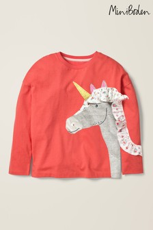 Boden Pink Frill Appliqué T-Shirt