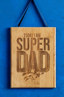 Grumpy Dad Super Dad Reversible Hanging Plaque