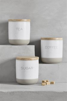 Set of 3 Speckle Storage Jars