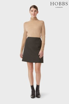 Hobbs Cream Gracie A-Line Skirt