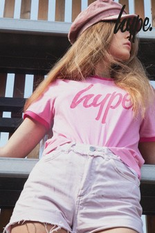 Hype. Pink Ringer T-Shirt