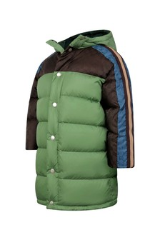 Boys Brown Padded GG Jacket