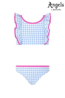 Angels by Accessorize Blue Gingham Bikini
