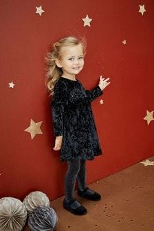Robe en velours pailletée (3 mois - 7 ans)