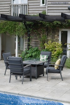 Milano Lounge Firepit Set By LG Outdoor