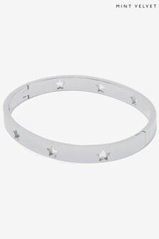 Mint Velvet Silver Tone Bangle Bracelet
