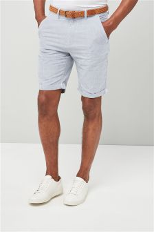 Stripe Belted Chino Shorts