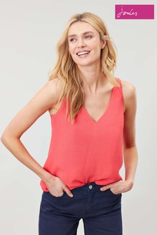 Joules Pink Kyra V-Neck Camisole
