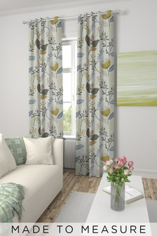Mari Floral Print Made To Measure Curtains