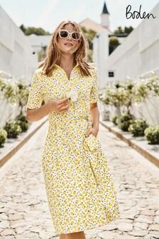 Boden Yellow Anastasia Shirt Dress