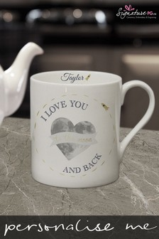 Personalised Moon & Back Mug by Signature PG