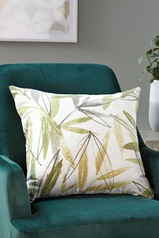 Tropical Palm Print Cushion Cover