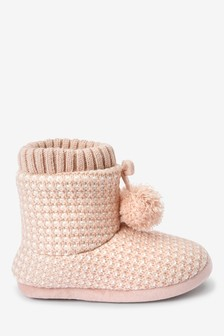 Knit Slipper Boots (Older)