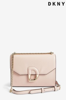 DKNY Blush Pink Von Leather Shoulder Bag