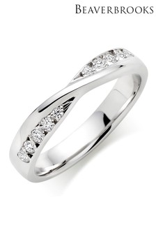 Beaverbrooks 9ct White Gold Diamond Wedding Ring