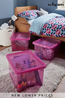 Set of 3 Crystal 35L Boxes by Wham