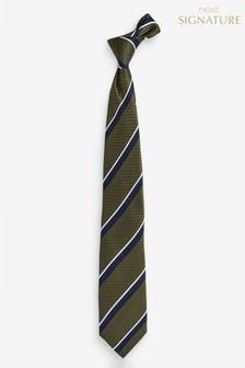 Signature Silk Stripe Tie