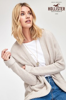 Hollister Oatmeal Honeycomb Stitch Cardigan