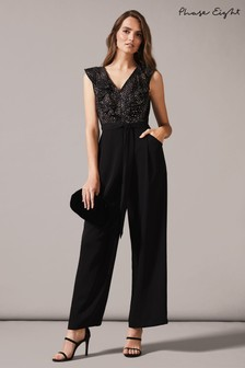 Phase Eight Black Garcia Stars Jumpsuit