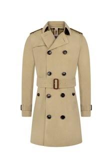 Burberry Kids Girls Beige Mayfair Trench Coat