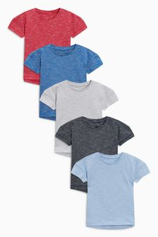 Wizzy Stripe Short Sleeve T-Shirts Five Pack (3mths-6yrs)