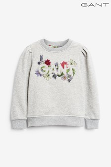 GANT Girls Flower Logo Crew Neck Sweat Top