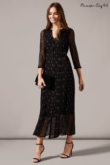 Phase Eight Black Sparkle Shirt Maxi Dress