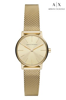 Armani Exchange Gold Tone Lola Mini Watch