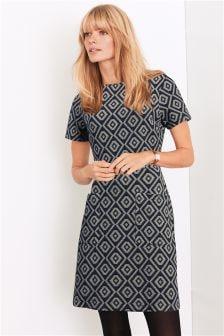 Geo Jacquard Dress