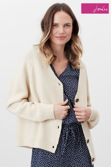 Joules Jane Knitted Garter Stitch Cardigan