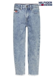 Tommy Hilfiger Blue High Rise Tapered Denim Jeans