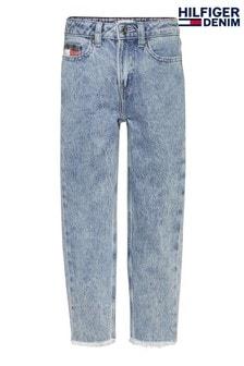 Tommy Hilfiger Blue High Rise Tapered Denim Jeans