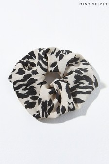 Mint Velvet Animal Lily Printed Scrunchie