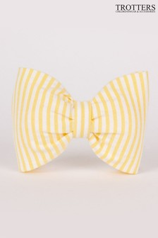 Trotters London Yellow Seersucker Hair Bow