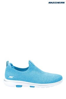 Skechers® Blue Gowalk 5 Trendy Slip-On Sports Trainers