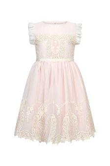 Patachou Girls Pink Cotton  Dress
