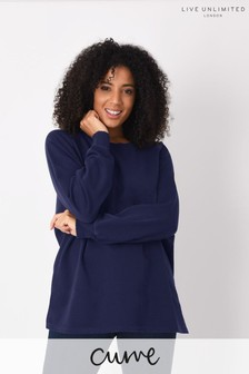 Live Unlimited Curve Washed Navy Sweatshirt