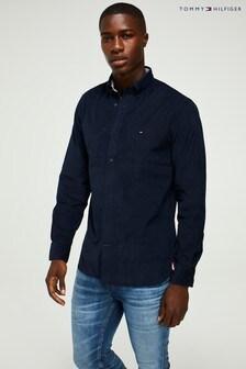Tommy Hilfiger Blue Flex Corduroy Shirt