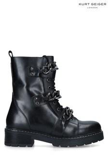 Kurt Geiger London Black Storm Biker Boots