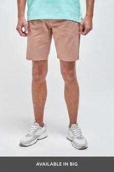 Slim Pleat Stretch Chino Shorts