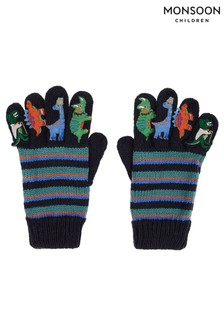 Monsoon Blue Dino Novelty Gloves