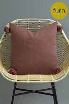 Furn Pink Eden Ombre Tassel Cushion