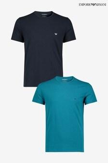 Armani Navy Logo T-Shirt