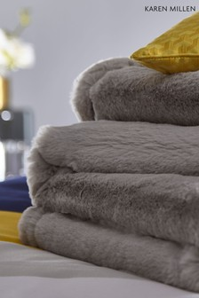 Karen Millen Faux Fur Throw