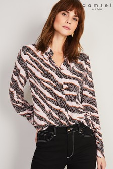 Damsel In A Dress Multi Averie Silk Blend Zebra Blouse