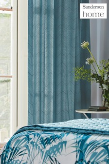 Sanderson Home Palm House Eyelet Curtains